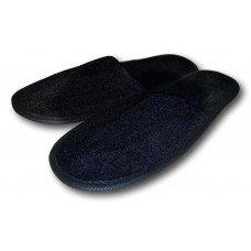 Комнатные велюровые тапочки для гостей универсального размера Kh-03bl с закрытым носком