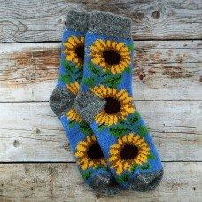 Женские теплые носки из шерсти ангоры Angorka IZH068 синего цвета 37 размера