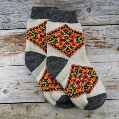 Женские ангоровые носки Angorka 40 размера 26 см белого цвета (модель IZH152)
