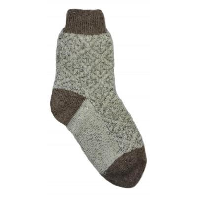 Женские теплые тонкие носки серого цвета из овечьей шерсти  (модель IV-0005)
