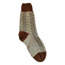 Женские теплые тонкие носки серо-коричневого цвета из овечьей шерсти IV-0004
