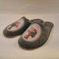Комнатные женские паркетные войлочные тапочки БЕЛСТА (BELSTA) 1087171055А серые