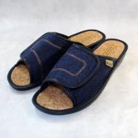 Женские тапочки на пробковой стельке с липучкой БЕЛСТА (BELSTA) 1193 синие