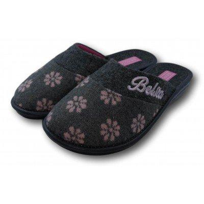 Женские текстильные  домашние тапочки BELSTA 38 размер 24,5 см (артикул B1-60)