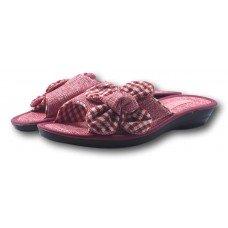Комнатные женские текстильные тапочки с большим бантом БЕЛСТА (BELSTA) B1000 розовые