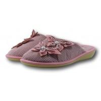 Женские вельветовые тапочки для бани с жемчужинами БЕЛСТА (BELSTA) B1003 39 размера розовые