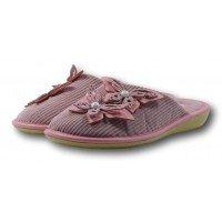 Женские вельветовые тапочки для бани с жемчужинами БЕЛСТА (BELSTA) B1003 розовые