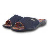 Комнатные женские джинсовые тапочки БЕЛСТА (BELSTA) B1200 синие