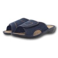 Женские джинсовые тапочки на пробковой стельке БЕЛСТА (BELSTA) B1301 синие
