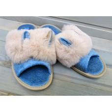 Комнатные женские текстильные тапочки БЕЛСТА (BELSTA) B88-11blu