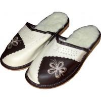 Комнатные кожаные теплые женские тапочки Cobi-m C106-03 36 размер