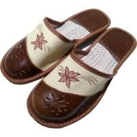 Комнатные женские кожаные тапочки Cobi-m C106-04