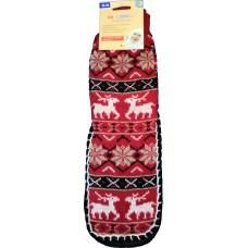 Женские теплые тапочки-носки с силиконовыми вставками на подошве LookEn SM-D-239-r