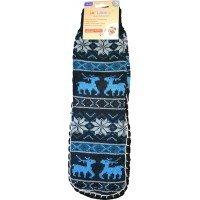 Женские теплые тапочки-носки с силиконовыми вставками на подошве LookEn SM-D-239-b