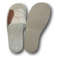 Комнатные женские кожаные тапочки Nowbut N119