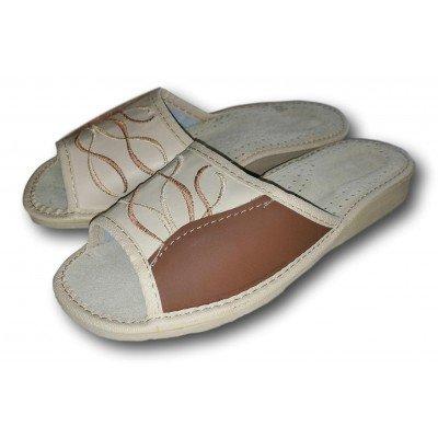Женские кожаные домашние тапочки Nowbut 36 размера 22,2 см (модель N119)