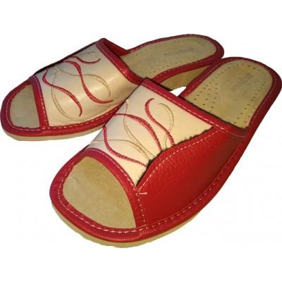 Женские кожаные домашние тапочки Nowbut 38 размера 23,7 см (модель N120)