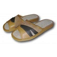 Комнатные женские кожаные тапочки Nowbut N18