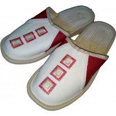 Комнатные женские кожаные тапочки Nowbut N321-01