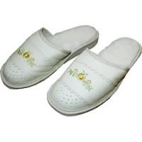 Комнатные женские кожаные тапочки Nowbut N616