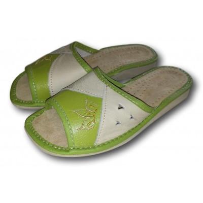 Женские кожаные домашние тапочки Nowbut 40 размера 25,2 см (модель N94)