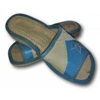 Комнатные женские кожаные тапочки Nowbut N95