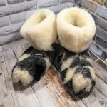 Домашние женские угги (чуни) из натуральной шерсти Polmar 1001-07