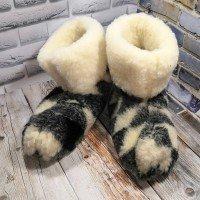 Домашние мужские угги (чуни) из натуральной шерсти Polmar 1001-07