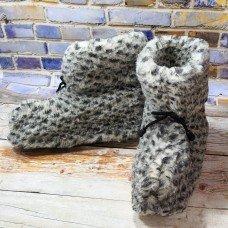 Домашние женские угги (чуни) из натуральной шерсти Polmar 1001-08b