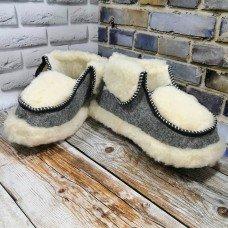 Домашние женские теплые чуни из натуральной шерсти Polmar 1005-01 36/37 размер