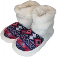 Комнатные женские тапочки чуни (угги) из овчины Polmar 1008-01