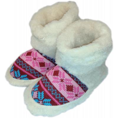 Комнатные женские тапочки чуни (угги) из овчины Polmar 1008-02 40/41 размер 27 см (модель 1008-02)