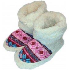 Комнатные женские тапочки чуни (угги) из овчины Polmar 1008-02