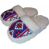 Домашние теплые женские тапочки из шерсти Polmar 1009-02