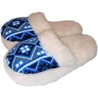Домашние теплые женские тапочки из шерсти Polmar 1009-03