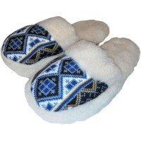 Домашние теплые женские тапочки из шерсти Polmar 1009-04