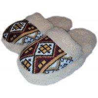 Домашние теплые женские тапочки из шерсти Polmar 1009-05