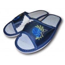 Комнатные женские кожаные тапочки Polmar P150