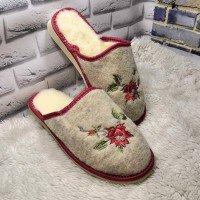 Комнатные женские войлочные тапочки утепленные Polmar P162-2