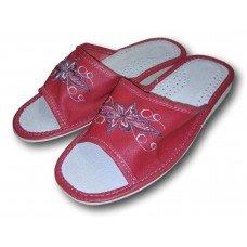 Комнатные женские кожаные тапочки Polmar P170