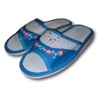 Комнатные женские кожаные тапочки Polmar P202