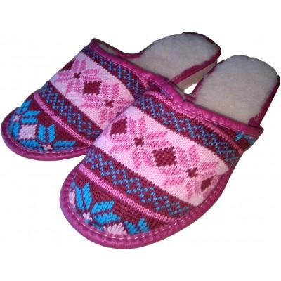 Комнатные теплые женские тапочки Polmar 36 размер 21,5 см (модель P206p)