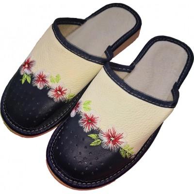 Женские кожаные домашние тапочки Polmar 39 размера 24,5 см (модель P226-01)
