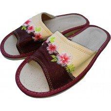 Комнатные женские кожаные тапочки Polmar P226-04