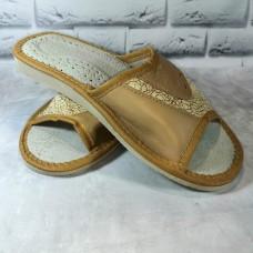 Комнатные женские кожаные тапочки Polmar P241b