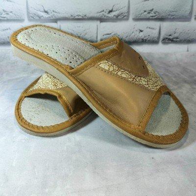 Женские кожаные домашние тапочки Polmar 40 размер 25,5 см (модель P241b)