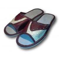 Комнатные женские кожаные тапочки Polmar P271bd