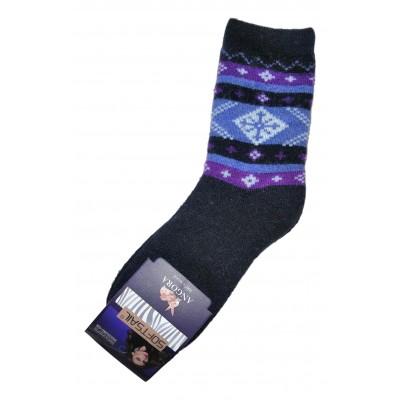 Женские ангоровые носки SOFTSAIL 39-42 размера темно-синего цвета (модель 7272)