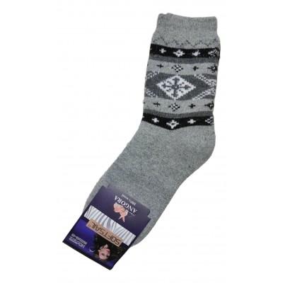 Женские ангоровые носки SOFTSAIL 39-42  размера светло-серого цвета (модель 7272)