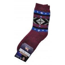 Женские теплые носки из шерсти ангоры SOFTSAIL №7272 красного цвета 39-42 размера